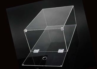 China Shoe Box Packing Clear Acrylic Display Case With Magnets Lid Sneaker supplier