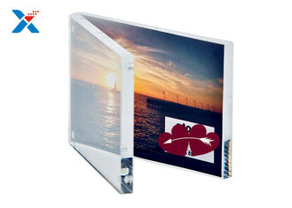 Transparent Acrylic Photo Frame Certificated Clear Photo Table