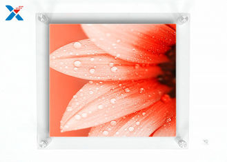 Wall Mounted Acrylic Photo Frames / Double Panel Clear Acrylic Floating Frame