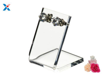Transparent Acrylic Jewelry Organizer / Acrylic Earring Organizer With Holes