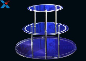 Round 3 Layers Acrylic Display Stands For Wedding Environmental And Recyclable