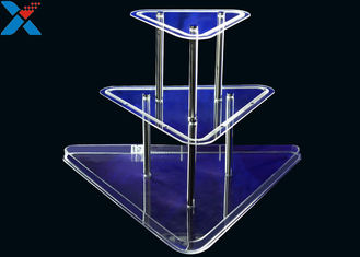 Clear 3 Layer Acrylic Wine Holder , Lucite Display Stands Durable And Chemical Stability