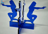 China Blue Acrylic Shapes Craft / Acrylic Stand For Office Decoration Gifts company
