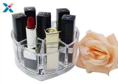 Makeup Organizer Acrylic Box , Clear Acrylic Lipstick Organizer For Brushes / Skincare