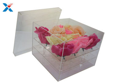China Clear Lid Acrylic Flower Box Luxury Plexiglass Flower Box Eco - Friendly factory