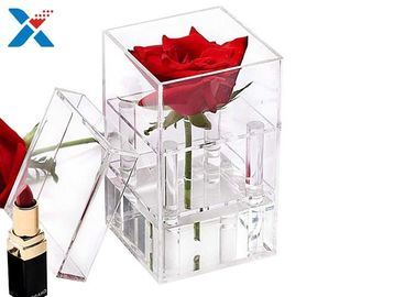 China Waterproof Acrylic Planter Box , Gifts Clear Acrylic Storage Boxes With Lid factory