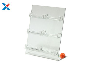 China Plexiglass / Acrylic Business Card Holder , 6 Pockets Acrylic Document Holder factory