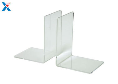 Eco Friendly Clear Acrylic Bookends , Acrylic Book Stand Organizer For Book Displaying