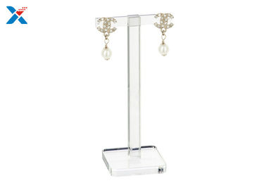 China T Shaped Acrylic Display Rack Acrylic Earring Display Stand Non - Flammable factory