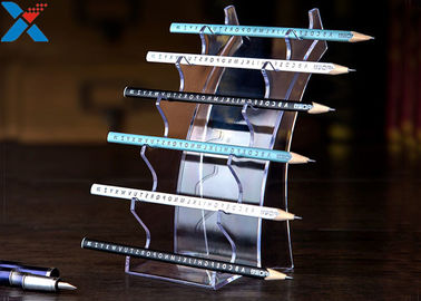 China Eyebrow Pencil Clear Acrylic Display Stands Acrylic Pen Holder Display Stand factory