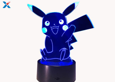 Colorful Acrylic Light Guide Panel 3D Light Guide Night Light Pikachu PokéMon