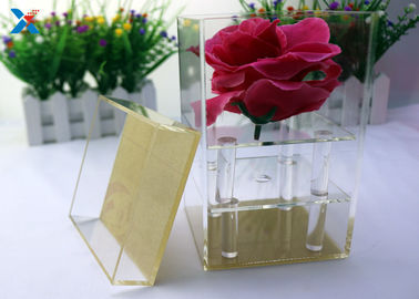Valentine ' S Fresh Rose Transparent Gift Box , Acrylic Flower Case Chemical Resisdence