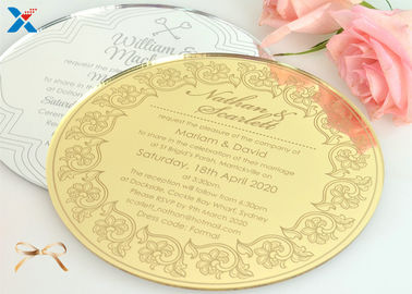 Round Shape Acrylic Gifts / Acrylic Wedding Invitation Cards With Different Color
