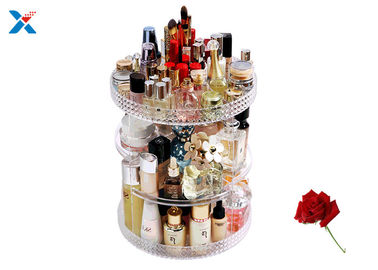 360 Degree Rotating Acrylic Cosmetic Makeup Box Storage Organizer Color Customized