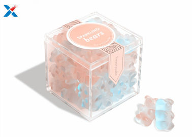 Mini Acrylic Candy Box In Clear Color With Lid For Wedding Gift